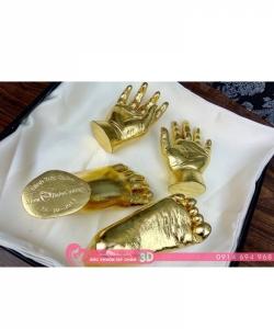 Đúc khuôn tay chân 3D dát vàng 24k - G01