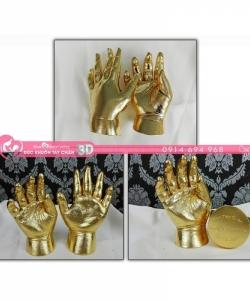 Đúc khuôn tay chân 3D dát vàng 24k - G02