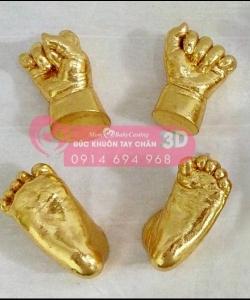 Đúc khuôn tay chân 3D dát vàng 24k - G04