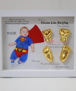 Đúc khuôn tay chân 3D dát vàng 24k - G07